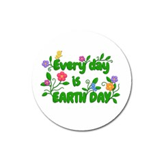 Earth Day Magnet 3  (round) by Valentinaart