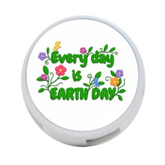 Earth Day 4 Port Usb Hub (one Side) by Valentinaart