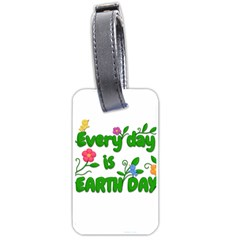 Earth Day Luggage Tags (two Sides) by Valentinaart