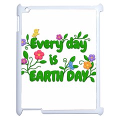 Earth Day Apple Ipad 2 Case (white) by Valentinaart