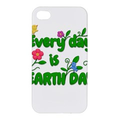 Earth Day Apple Iphone 4/4s Hardshell Case by Valentinaart