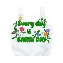 Earth Day Full Print Recycle Bags (m)  by Valentinaart