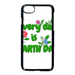 Earth Day Apple Iphone 8 Seamless Case (black) by Valentinaart