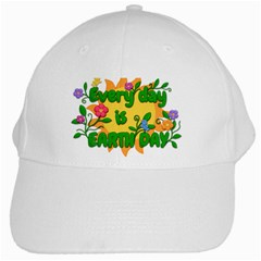 Earth Day White Cap