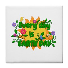 Earth Day Tile Coasters