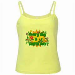 Earth Day Yellow Spaghetti Tank