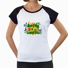 Earth Day Women s Cap Sleeve T