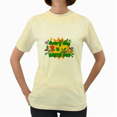 Earth Day Women s Yellow T-Shirt
