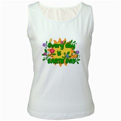 Earth Day Women s White Tank Top