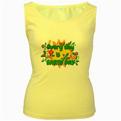Earth Day Women s Yellow Tank Top