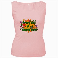 Earth Day Women s Pink Tank Top