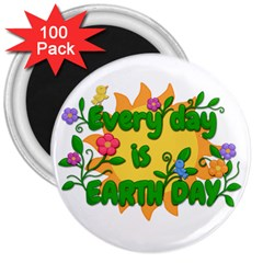 Earth Day 3  Magnets (100 pack)