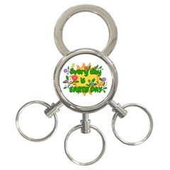 Earth Day 3-Ring Key Chains