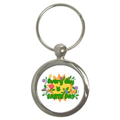 Earth Day Key Chains (Round)