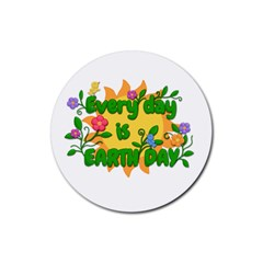 Earth Day Rubber Round Coaster (4 pack)