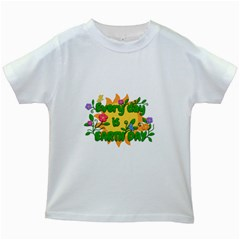 Earth Day Kids White T-Shirts