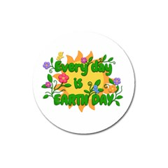 Earth Day Magnet 3  (Round)
