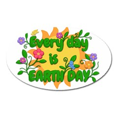 Earth Day Oval Magnet