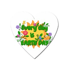 Earth Day Heart Magnet