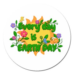 Earth Day Magnet 5  (Round)