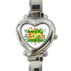 Earth Day Heart Italian Charm Watch