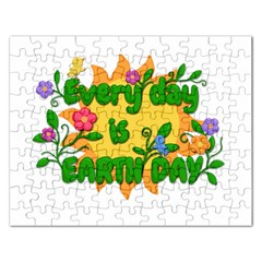 Earth Day Rectangular Jigsaw Puzzl