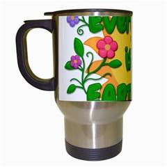 Earth Day Travel Mugs (White)
