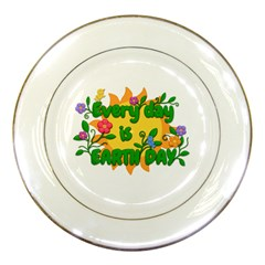 Earth Day Porcelain Plates