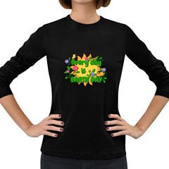 Earth Day Women s Long Sleeve Dark T-Shirts