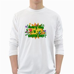 Earth Day White Long Sleeve T-Shirts
