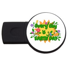 Earth Day USB Flash Drive Round (4 GB)