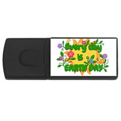 Earth Day Rectangular USB Flash Drive