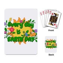Earth Day Playing Card