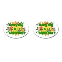 Earth Day Cufflinks (Oval)