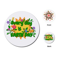 Earth Day Playing Cards (Round)