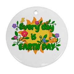 Earth Day Round Ornament (Two Sides)