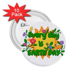 Earth Day 2 25  Buttons (10 Pack)  by Valentinaart