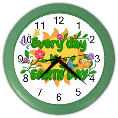 Earth Day Color Wall Clocks