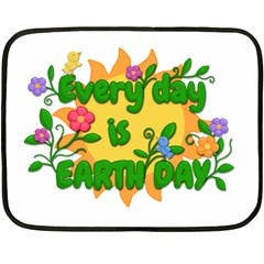 Earth Day Double Sided Fleece Blanket (Mini)