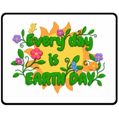 Earth Day Fleece Blanket (Medium)