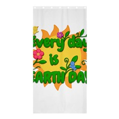 Earth Day Shower Curtain 36  x 72  (Stall)