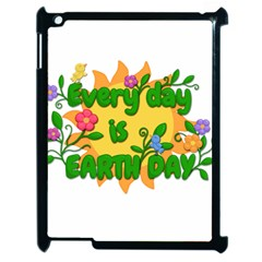 Earth Day Apple iPad 2 Case (Black)