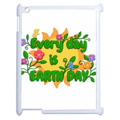 Earth Day Apple iPad 2 Case (White)