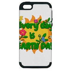 Earth Day Apple iPhone 5 Hardshell Case (PC+Silicone)
