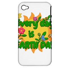 Earth Day Apple iPhone 4/4S Hardshell Case (PC+Silicone)