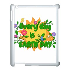 Earth Day Apple iPad 3/4 Case (White)