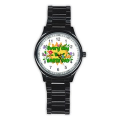 Earth Day Stainless Steel Round Watch