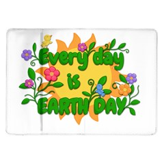 Earth Day Samsung Galaxy Tab 10.1  P7500 Flip Case