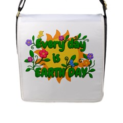 Earth Day Flap Messenger Bag (L)