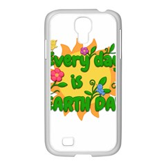 Earth Day Samsung GALAXY S4 I9500/ I9505 Case (White)